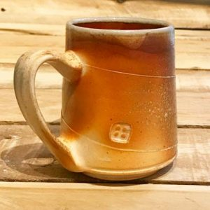 #28  Woodfired mug  Handle left