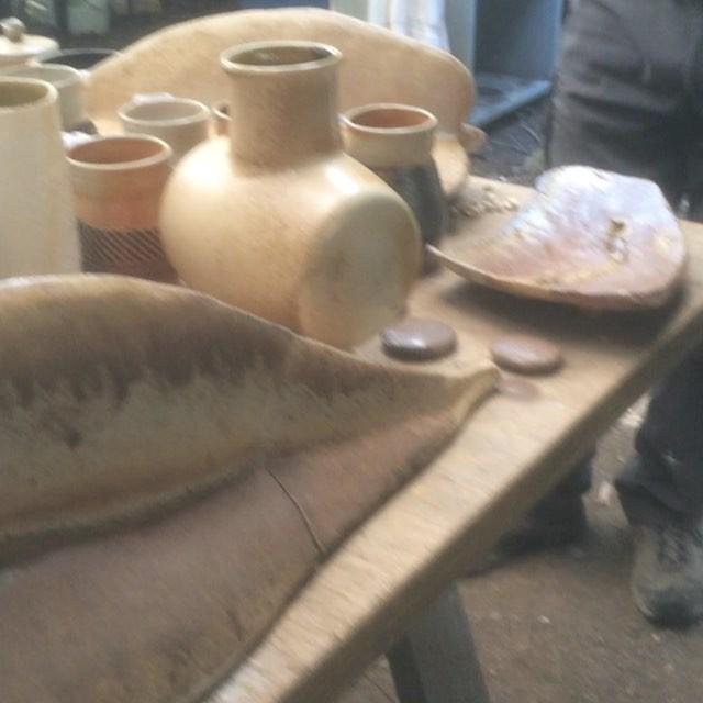 in the kiln unloading