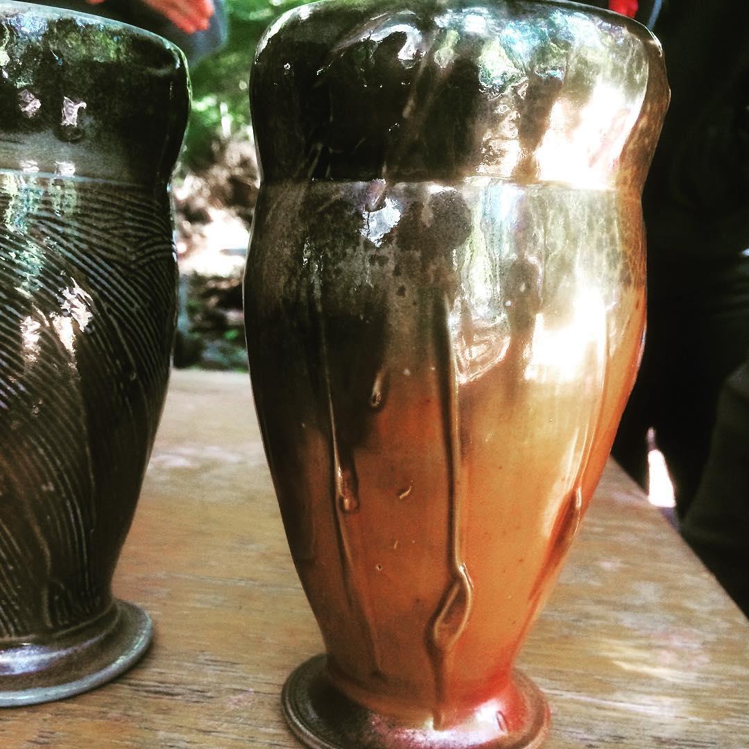 woodfiredpottery beerstein vase tumbler handmade pottersofperiscope corisandlerpottery