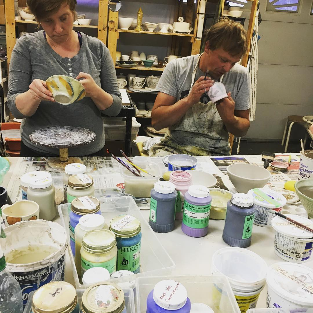 students at cori's clay class