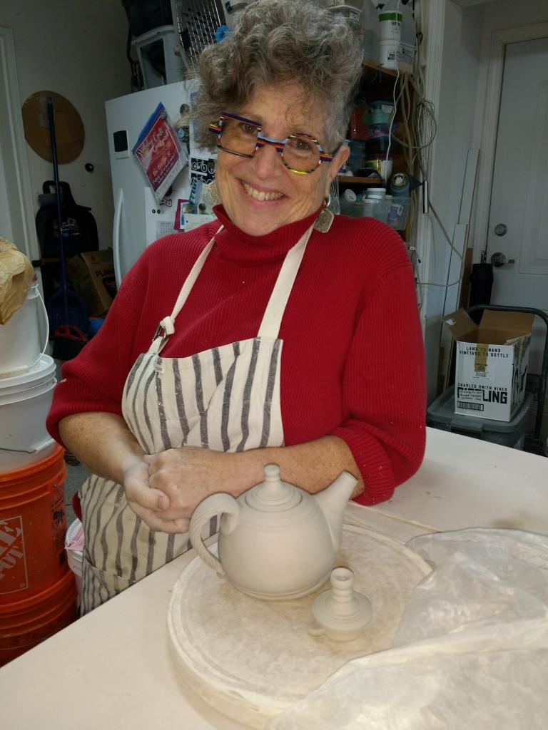 cori sandler with teapot