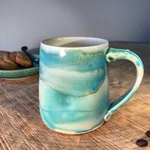 handmade pottery mug ocean inspired #20