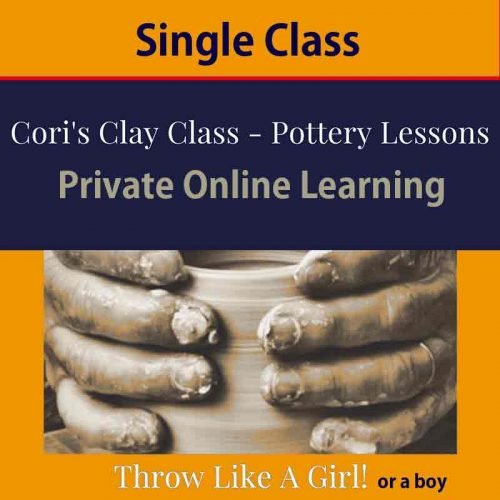 online pottery class - single class with cori sandler