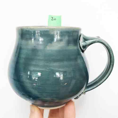 blue belly mug