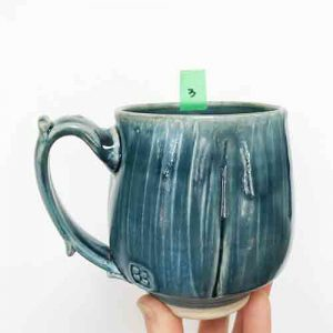 cori sandler blue slipped mug