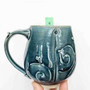 cinderella coach mug - blue by cori sandler