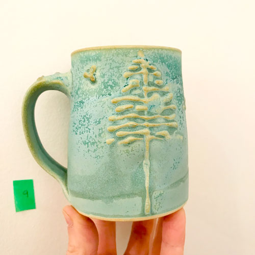 west coast tree mug by cori sandler