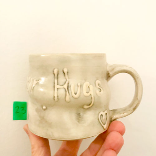 I miss your hugs mug by Cori Sandler